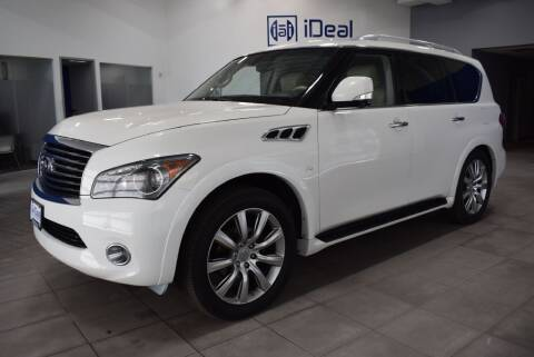 2014 Infiniti QX80 for sale at iDeal Auto Imports in Eden Prairie MN