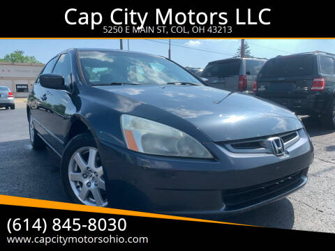 2005 Honda Accord for sale at Cap City Motors LLC in Columbus OH