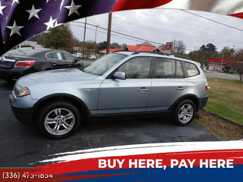 2005 BMW X3 for sale at CAROLINA MOTORS in Thomasville NC