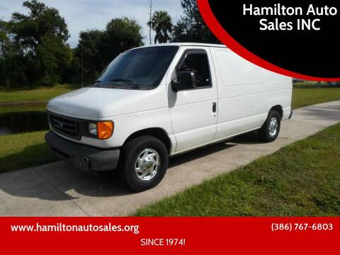 2003 Ford E-Series Cargo for sale at Hamilton Auto Sales INC in Port Orange FL