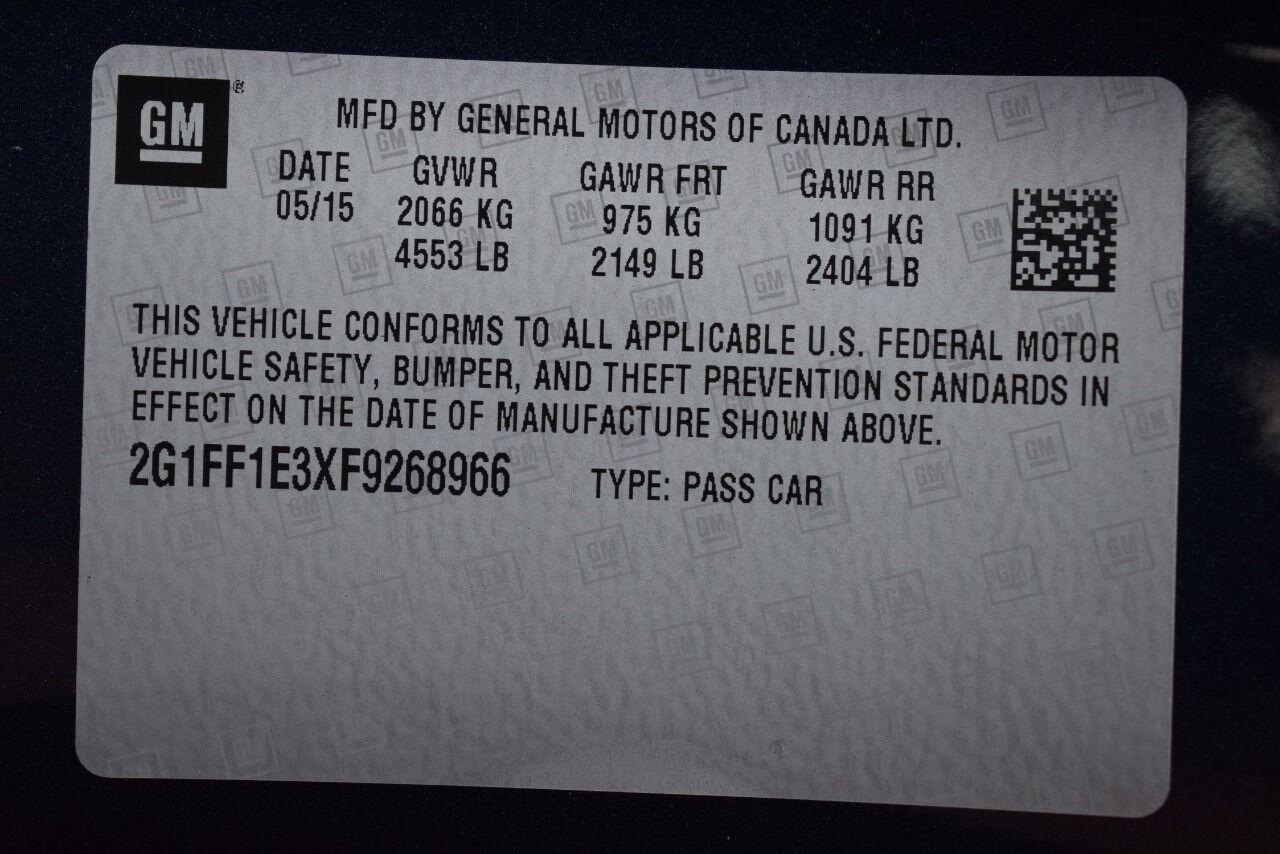 2015 Chevrolet Camaro LT 2dr Coupe w/2LT full