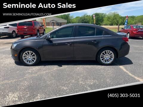 2014 Chevrolet Cruze for sale at Seminole Auto Sales in Seminole OK