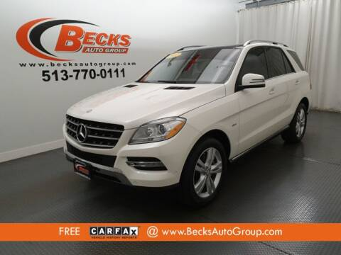 2012 Mercedes-Benz M-Class for sale at Becks Auto Group in Mason OH