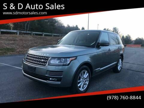 2015 Land Rover Range Rover for sale at S & D Auto Sales in Maynard MA