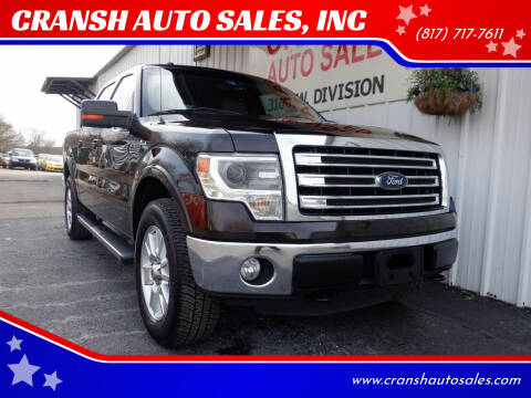 2013 Ford F-150 for sale at CRANSH AUTO SALES, INC in Arlington TX