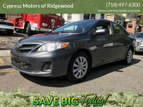 2012 Toyota Corolla for sale at Cypress Motors of Ridgewood in Ridgewood NY