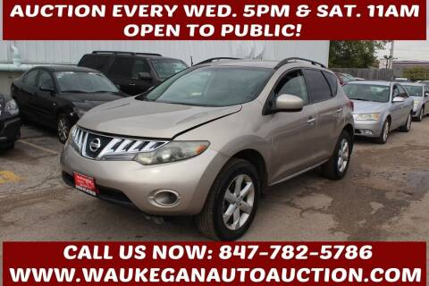 2009 Nissan Murano for sale at Waukegan Auto Auction in Waukegan IL