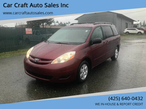 2008 Toyota Sienna for sale at Car Craft Auto Sales Inc in Lynnwood WA