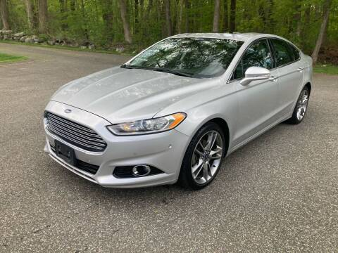 2013 Ford Fusion for sale at Lou Rivers Used Cars in Palmer MA