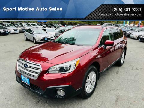 2015 Subaru Outback for sale at Sport Motive Auto Sales in Seattle WA