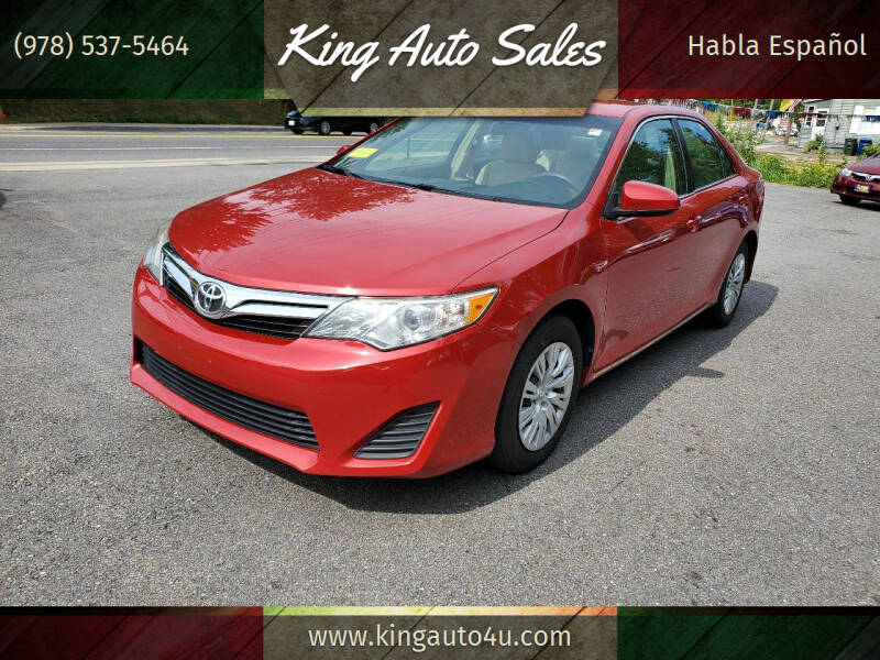 2012 Toyota Camry for sale at King Auto Sales in Leominster MA
