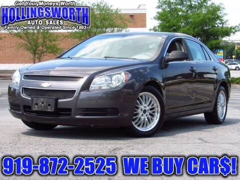 2011 Chevrolet Malibu for sale at Hollingsworth Auto Sales in Raleigh NC