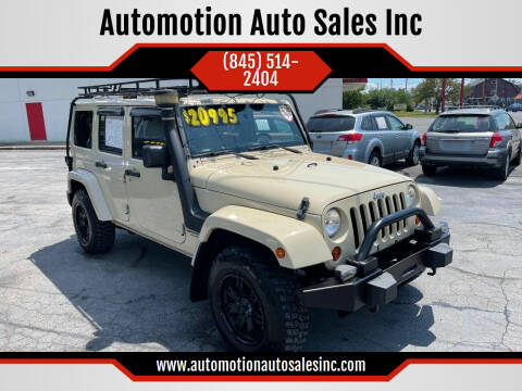 2011 Jeep Wrangler Unlimited for sale at Automotion Auto Sales Inc in Kingston NY