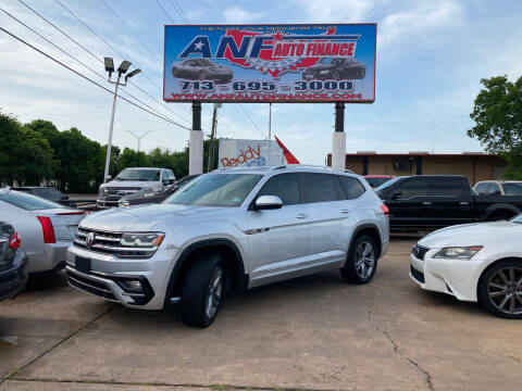 2018 Volkswagen Atlas for sale at ANF AUTO FINANCE in Houston TX