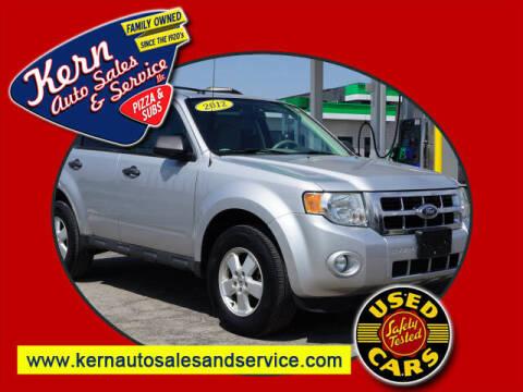 2012 Ford Escape for sale at Kern Auto Sales & Service LLC in Chelsea MI