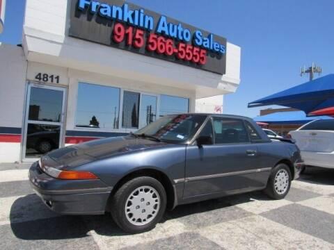 1991 Mercury Capri for sale at Franklin Auto Sales in El Paso TX