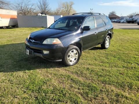 2002 Acura MDX for sale at El Jasho Motors in Grand Prairie TX