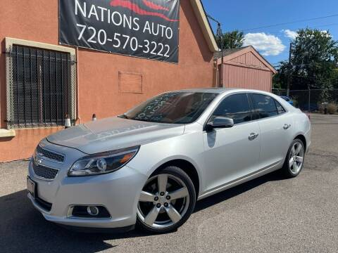 2013 Chevrolet Malibu for sale at Nations Auto Inc. II in Denver CO