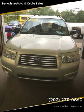 2007 Subaru Forester for sale at Berkshire Auto & Cycle Sales in Sandy Hook CT