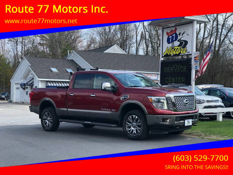 2017 Nissan Titan XD for sale at Route 77 Motors Inc. in Weare NH
