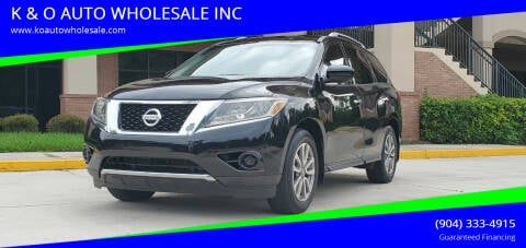 2014 Nissan Pathfinder for sale at K & O AUTO WHOLESALE INC in Jacksonville FL