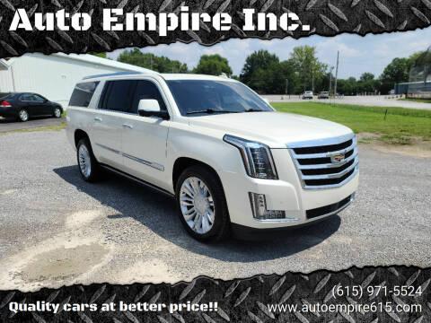 2015 Cadillac Escalade ESV for sale at Auto Empire Inc. in Murfreesboro TN