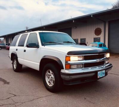 1998 Chevrolet Tahoe for sale at DASH AUTO SALES LLC in Salem OR