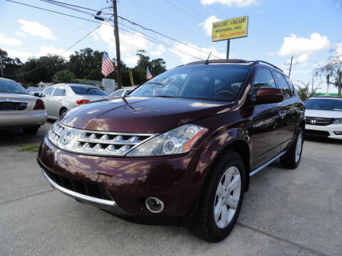 2006 Nissan Murano for sale at GREAT VALUE MOTORS in Jacksonville FL
