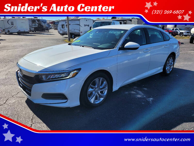 2018 Honda Accord for sale at Snider's Auto Center in Titusville FL