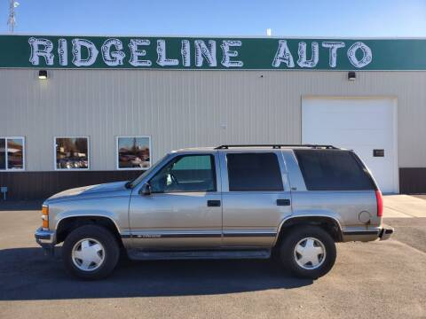 1999 Chevrolet Tahoe for sale at RIDGELINE AUTO in Chubbuck ID