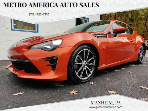 2017 Toyota 86 for sale at METRO AMERICA AUTO SALES of Manheim in Manheim PA