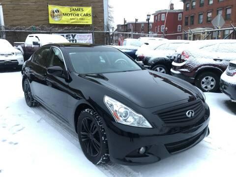 2012 Infiniti G25 Sedan for sale at James Motor Cars in Hartford CT