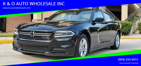 2015 Dodge Charger for sale at K & O AUTO WHOLESALE INC in Jacksonville FL