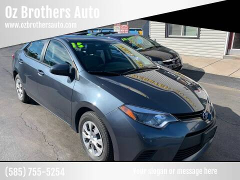 2015 Toyota Corolla for sale at OZ BROTHERS AUTO in Webster NY