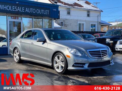 2013 Mercedes-Benz E-Class for sale at MWS Wholesale  Auto Outlet in Grand Rapids MI