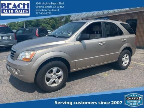 2008 Kia Sorento for sale at Beach Auto Sales in Virginia Beach VA