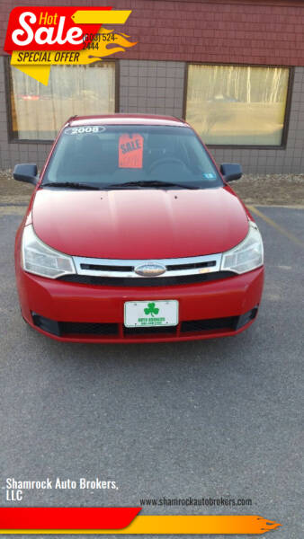 2008 Ford Focus for sale at Shamrock Auto Brokers, LLC in Belmont NH