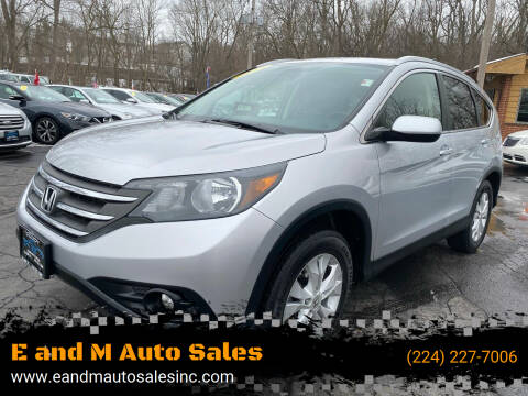 2013 Honda CR-V for sale at E and M Auto Sales in East Dundee IL