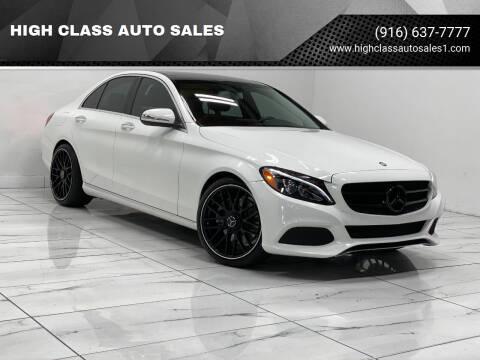 2015 Mercedes-Benz C-Class for sale at HIGH CLASS AUTO SALES in Rancho Cordova CA