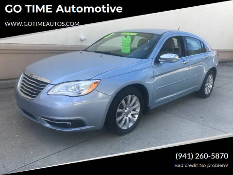 2013 Chrysler 200 for sale at Go Time Automotive in Sarasota- Bradenton FL