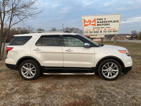 2012 Ford Explorer for sale at Phil's Marketplace Motors in Arnolds Park IA