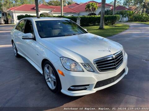 2012 Mercedes-Benz E-Class for sale at Autohaus of Naples Inc. in Naples FL