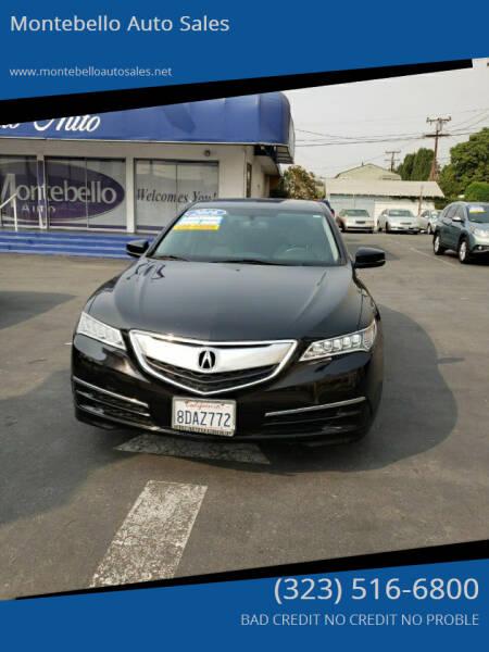 2016 Acura TLX for sale at Montebello Auto Sales in Montebello CA