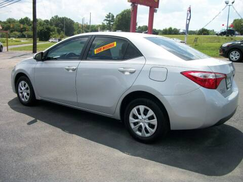 2015 Toyota Corolla for sale at Lentz's Auto Sales in Albemarle NC