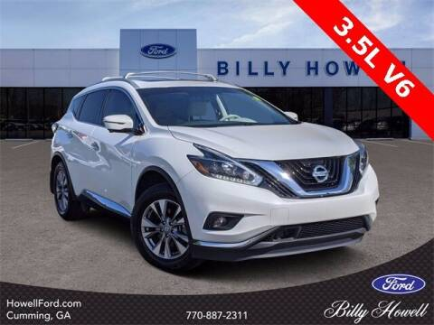 2018 Nissan Murano for sale at BILLY HOWELL FORD LINCOLN in Cumming GA