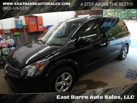 2008 Nissan Quest for sale at East Barre Auto Sales, LLC in East Barre VT