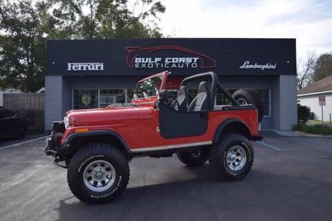 1980 Jeep CJ-7 for sale at Gulf Coast Exotic Auto in Biloxi MS