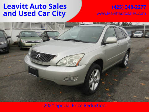 2007 Lexus RX 350 for sale at Leavitt Auto Sales and Used Car City in Everett WA
