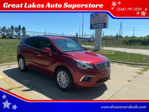 2017 Buick Envision for sale at Great Lakes Auto Superstore 2 in Waterford MI