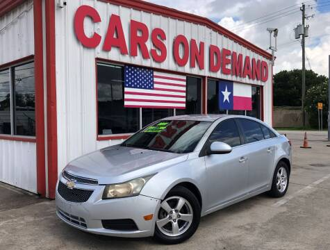 2011 Chevrolet Cruze for sale at Cars On Demand 2 in Pasadena TX